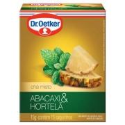 Kit c/ 12un Chá de Abacaxi com Hortelã 15 sachês - Dr. Oetker