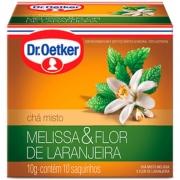 Kit c/ 12un Chá de Melissa com Flor de Laranjeira 10 sachês - Dr. Oetker