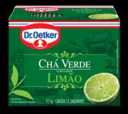 Kit c/ 12un Chá Verde com Limão 15 sachês - Dr. Oetker
