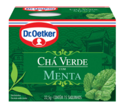 Kit c/ 12un Chá Verde com Menta 15 sachês - Dr. Oetker