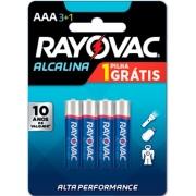 Caixa com 12 Cartelas Pilha AAA Palito Alcalina c/ 4un - Rayovac