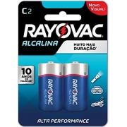 Caixa com 12 Cartelas Pilha C Media Alcalina c/ 2un - Rayovac