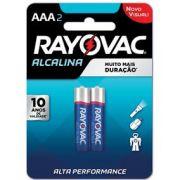 Pilha Alcalina AAA com 2 - Rayovac