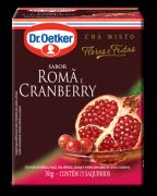 Chá de Romã & Cranberry 15 sachês - Dr. Oetker