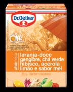 Chá Misto Laranja-Doce, Gengibre, Chá Verde, Hibisco, Acerola, Limão & Sabor Mel 15 sachês - Dr. Oetker