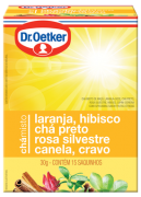 Chá Misto Laranja, Hibisco, Preto, Rosa Silvestre, Canela & Cravo 15 sachês - Dr. Oetker