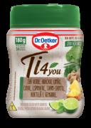 Chá Verde, Abacaxi, Limão, Couve, Espinafre, Capim-Santo, Hortelã & Gengibre 180g - Dr. Oetker