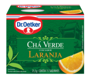 Chá Verde com Laranja 15 sachês - Dr. Oetker