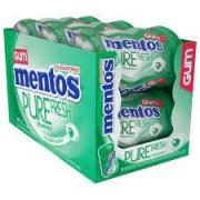 Chiclete Mentos Purefresh Wintergreen C/ 6 Potes - 552g