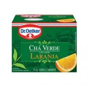 Kit c/ 12un Chá Verde com Laranja 15 sachês - Dr. Oetker