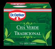 Kit c/ 12un Chá Verde Tradicional 15 sachês - Dr. Oetker