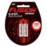 Pilha Fusion AA com 2 - Rayovac