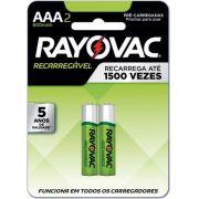 Pilha Recarregável Econômica AAA - Rayovac