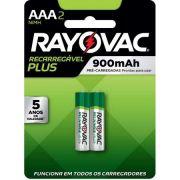 Pilha Recarregável Plus AAA - Rayovac