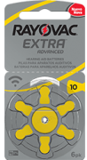 Pilhas Auditivas Tamanho 10 - Rayovac Extra Advanced