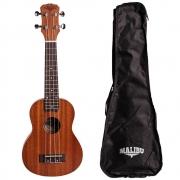 Ukulele Concert Malibu 23SE Natural Fosco Com Bag