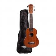 Ukulele Malibu Soprano 21S Natural Fosco Com Bag