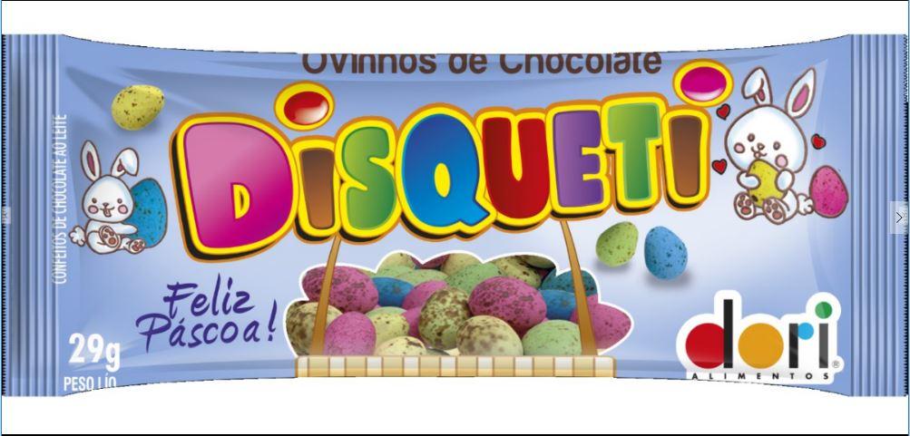 90un Mini Ovinhos de Páscoa Chocolate 29g - Disqueti  Dori