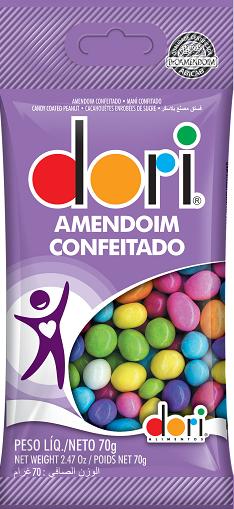 Amendoim Colorido 70g - Dori