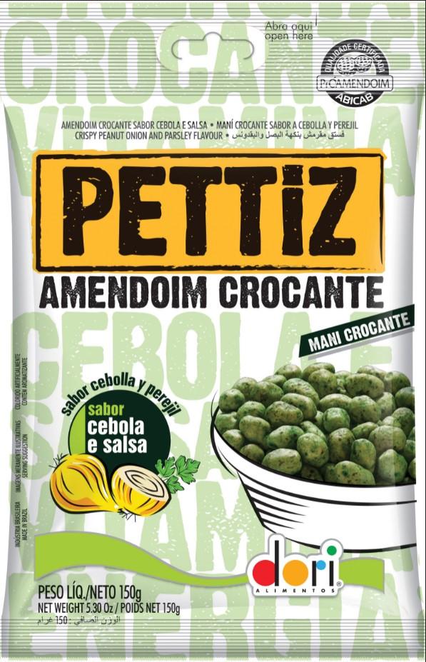 Amendoim Pettiz Crocante Cebola e Salsa 150g - Dori