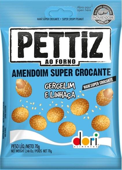 Amendoim Pettiz Crocante Gergelim e Linhaça 70g - Dori