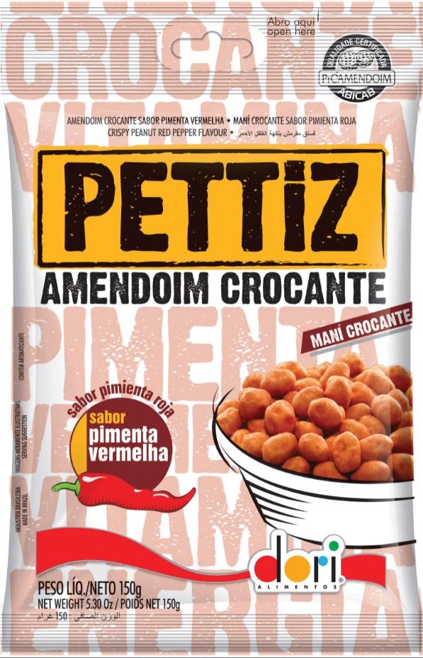 Amendoim Pettiz Crocante Pimenta 150g - Dori