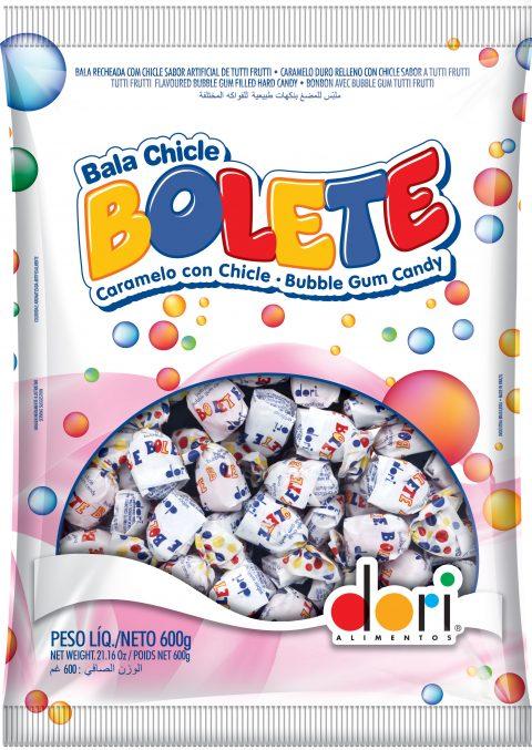 Bala Bolete Tutti Frutti  Recheada 600g