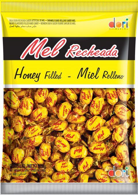 Kit c/ 2un Bala Mel Recheada 600g