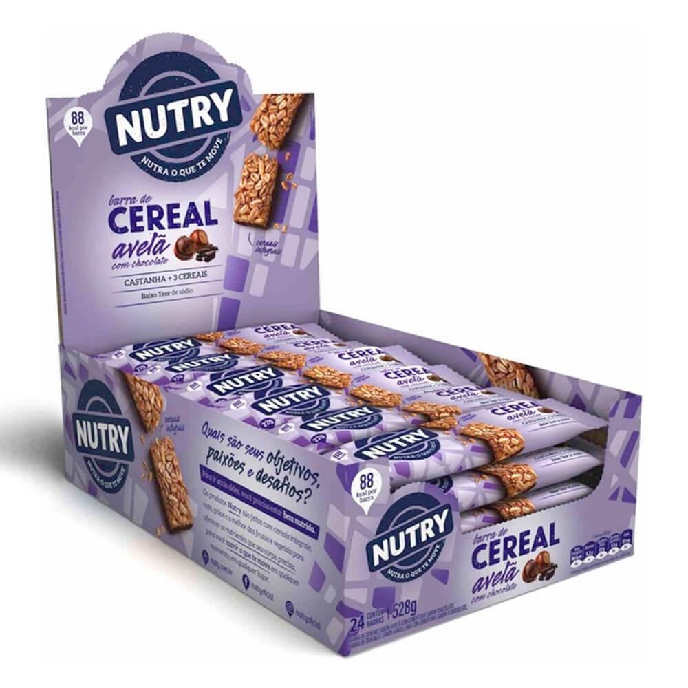 Barra de Cereal Avelã com Chocolate com 24 unidades - Nutry