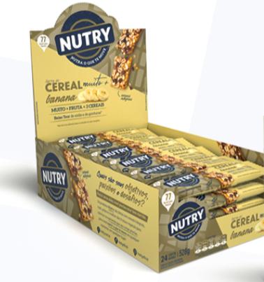 Barra de Cereal Muito + Banana com 24 unidades - Nutry
