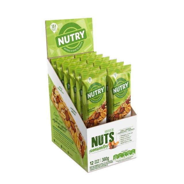 Barra de Nuts Sementes com 12 unidades - Nutry