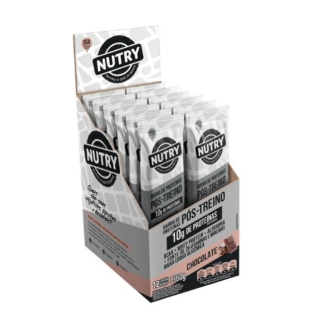 Barra de Proteína de Chocolate com 12 unidades - Nutry