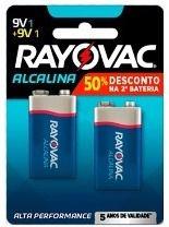 Bateria Alcalina 9V com 2 - Rayovac