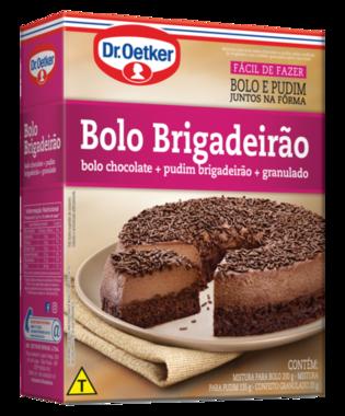 Bolo Pudim Brigadeirão 355g - Bolo de chocolate + pudim de brigadeiro c/ granulado