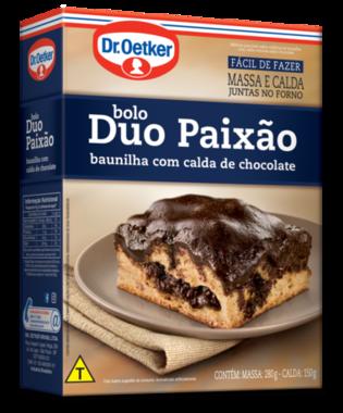 Bolo Duo Paixão Baunilha c/ calda de chocolate 430g