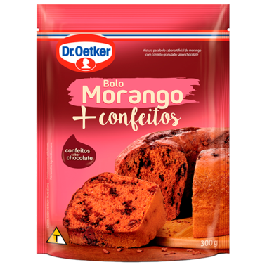 Bolo Morango + Confeitos 300g
