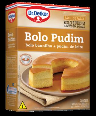 Bolo Pudim 310g - Bolo de baunilha + pudim de leite