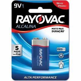 Caixa com 12 Baterias Alcalina 9V c/ 1un - Rayovac
