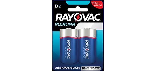 Caixa com 12 Cartelas Pilha D Grande Alcalina c/ 2un - Rayovac