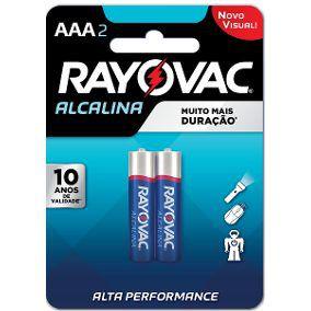 Caixa com 24 cartelas AAA Palito Alcalina c/ 2un - Rayovac