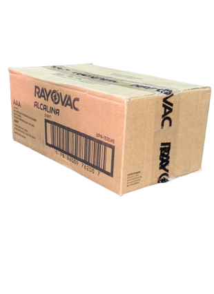 Caixa com 24 Cartelas Pilha AAA Palito Alcalina c/ 6un - Rayovac