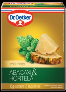 Chá de Abacaxi com Hortelã 15 sachês - Dr. Oetker