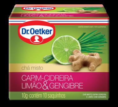 Chá de Capim-Cidreira, Limão & Gengibre 10 sachês - Dr. Oetker