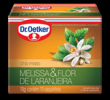 Chá de Melissa com Flor de Laranjeira 10 sachês - Dr. Oetker