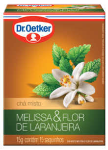 Chá de Melissa com Flor de Laranjeira 15 sachês - Dr. Oetker
