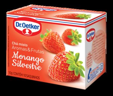 Chá de Morango Silvestre 10 sachês - Dr. Oetker