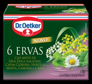 Chá 6 Ervas 10 sachês - Dr. Oetker