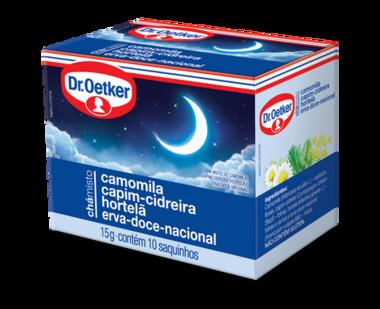 Chá Misto Camomila, Capim-Cidreira, Hortelã & Erva-Doce-Nacional 10 sachês - Dr. Oetker