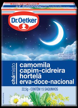 Chá Misto Camomila, Capim-Cidreira, Hortelã & Erva-Doce-Nacional 15 sachês - Dr. Oetker