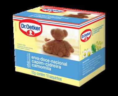 Chá Misto Erva-Doce Nacional, Capim-Cidreira & Camomila 10 sachês - Dr. Oetker